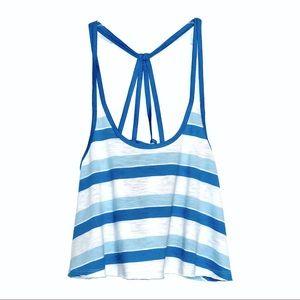 NWT - Hollister Top Back Design, Blue & White